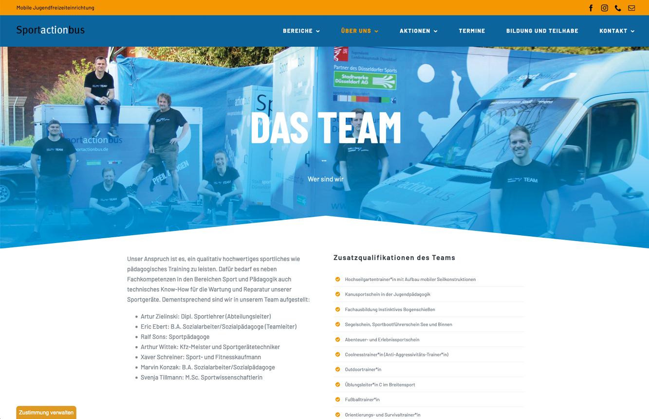 Sportactionbus: Das Team