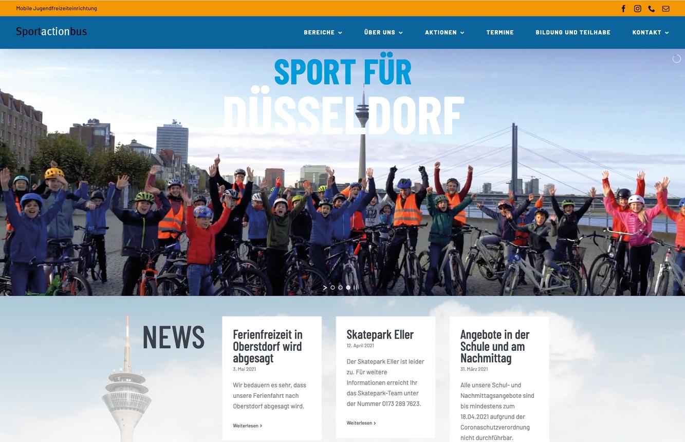 Sportactionbus: Die Homepage