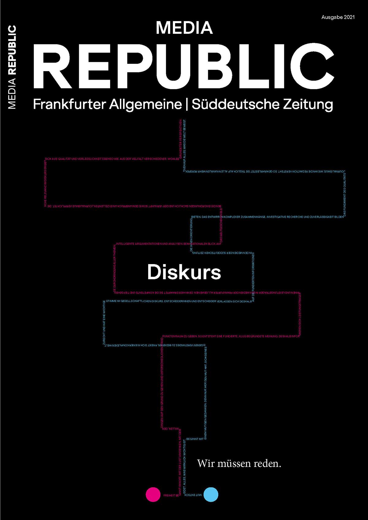 REPUBLIC MEDIA ist das neue Magazin des Vermarkters von Frankfurter Allgemeine und Süddeutscher Zeitung.